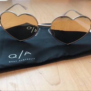 """Gold """"HeartBreaker"""" Quay Sunglasses"""